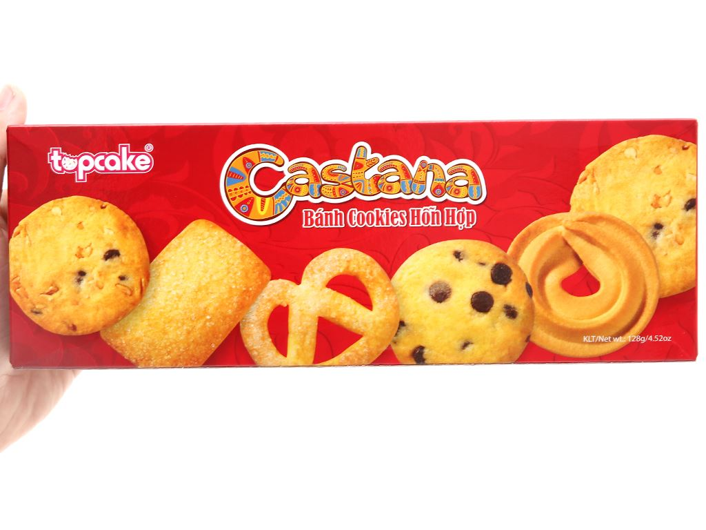 Bánh cookies hỗn hợp Castana hộp 128g 3
