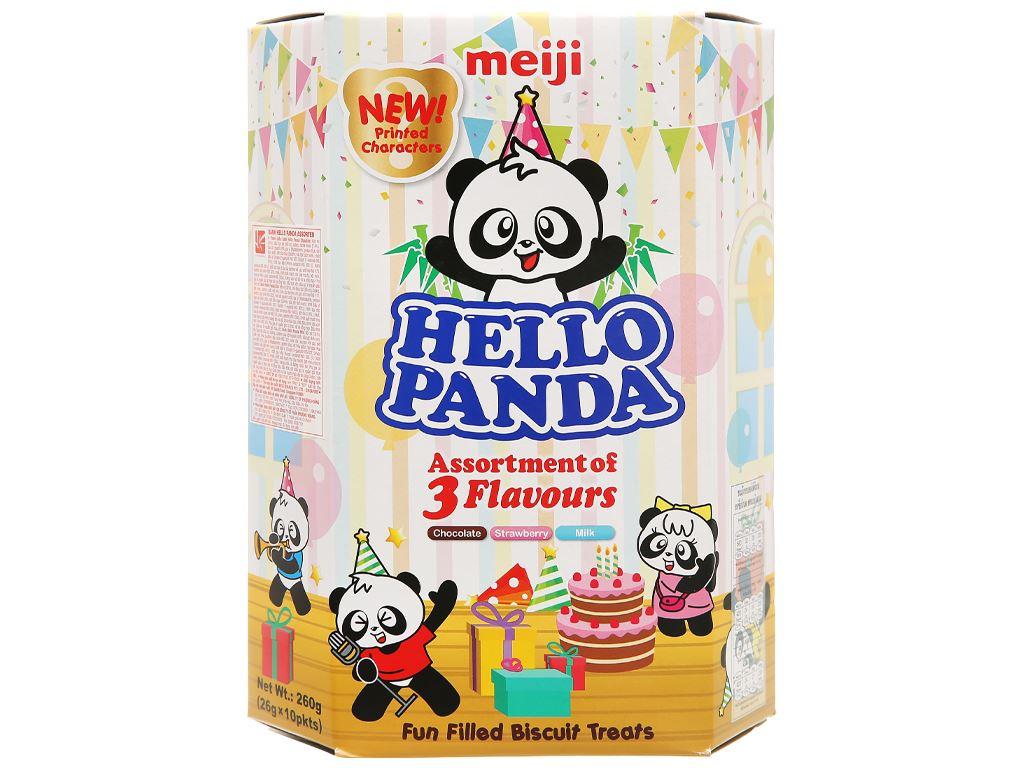 Bánh gấu 3 vị Assortment Meiji Hello Panda hộp 260g 1