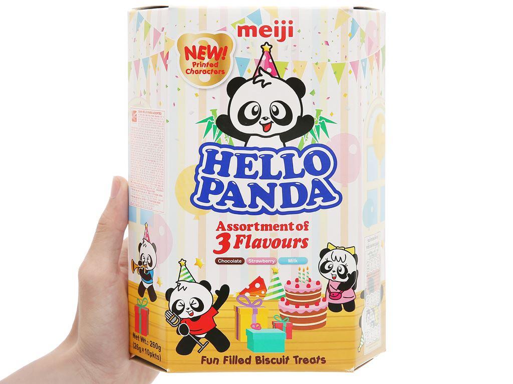 Bánh gấu 3 vị Assortment Meiji Hello Panda hộp 260g 5