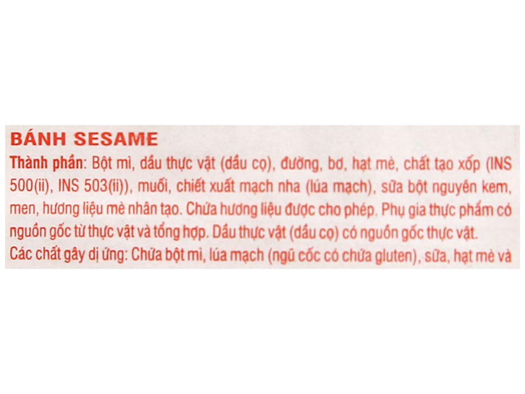 Bánh Sesame Meiji gói 29g 3