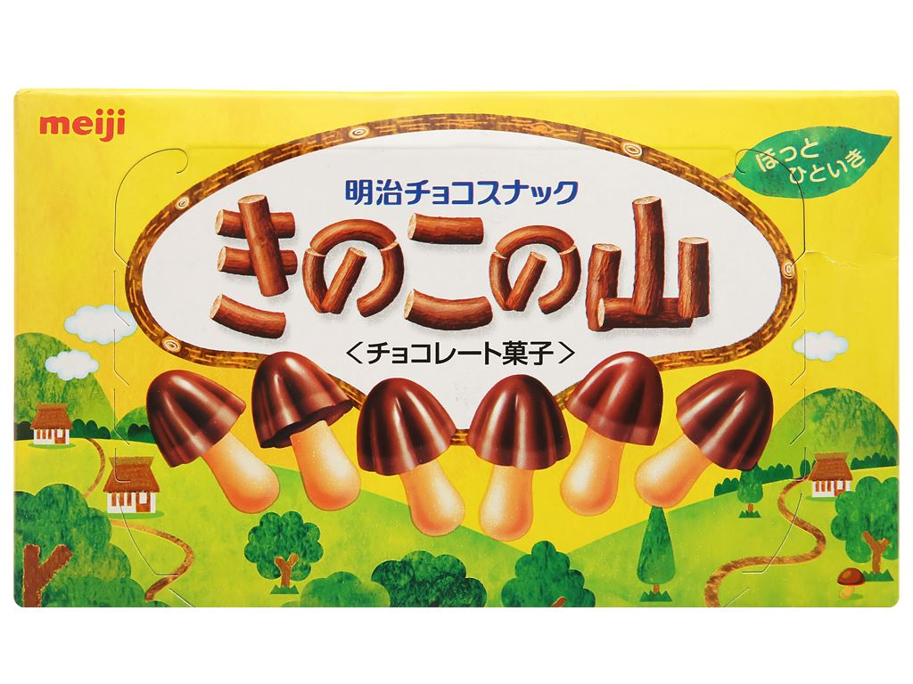 Bánh socola Meiji Kinoko No Yama hộp 74g 1