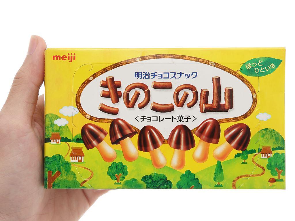 Bánh socola Meiji Kinoko No Yama hộp 74g 4