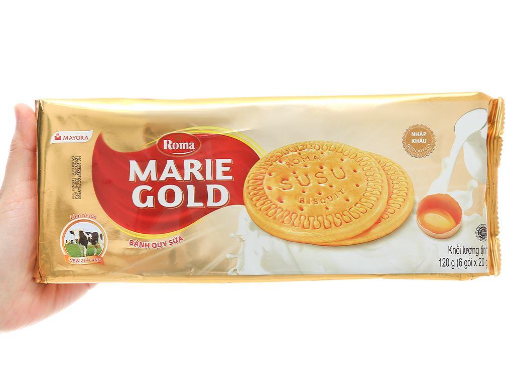 Bánh quy sữa Roma Marie Gold gói 120g 4