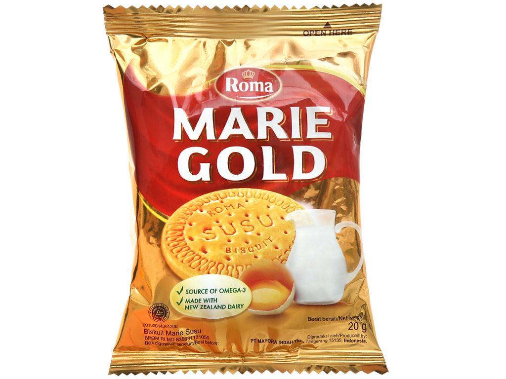 Bánh quy sữa Roma Marie Gold gói 120g 5