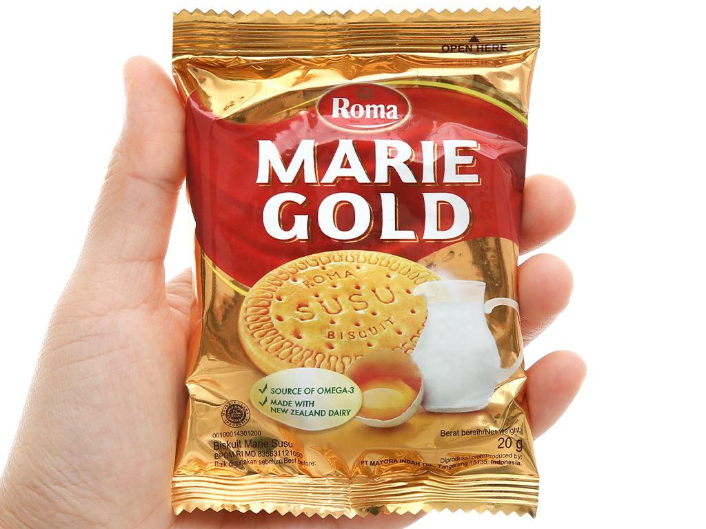 Bánh quy sữa Roma Marie Gold gói 120g 6