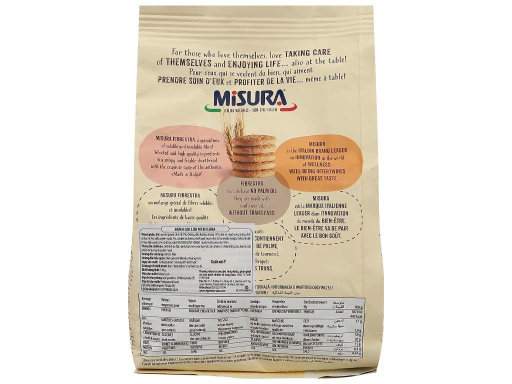 Bánh quy lúa mì Misura gói 330g 2