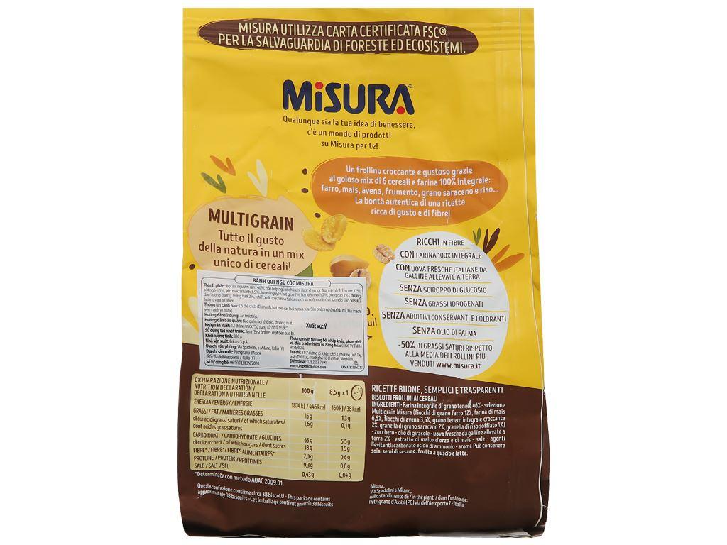 Bánh quy ngũ cốc Misura gói 330g 2