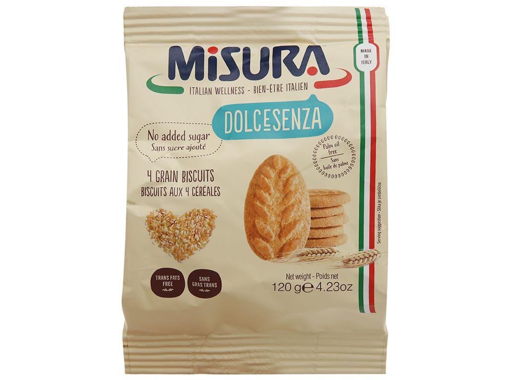Bánh quy 4 loại ngũ cốc Misura gói 120g 1