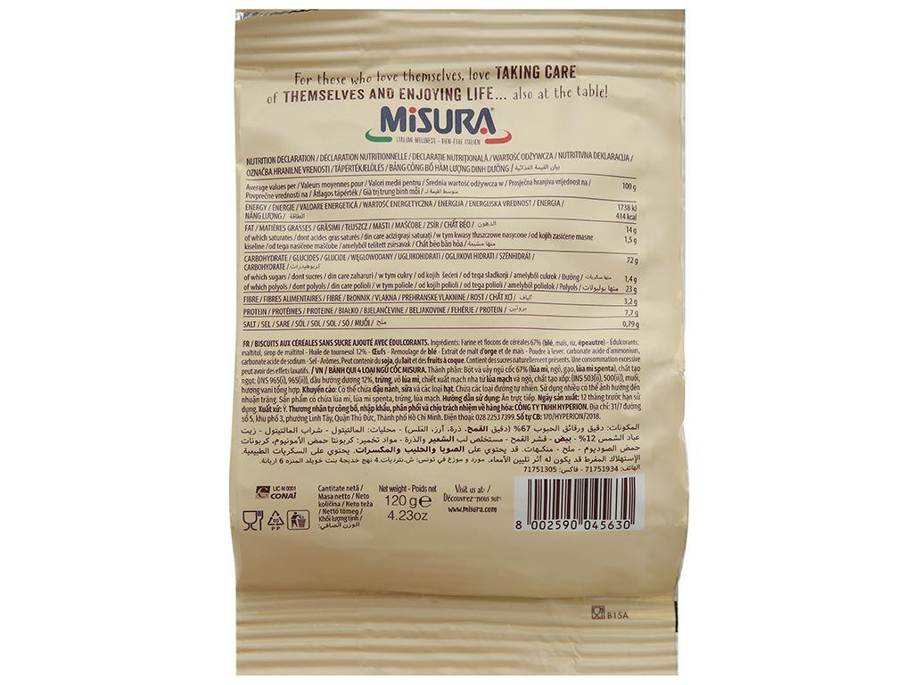 Bánh quy 4 loại ngũ cốc Misura gói 120g 2