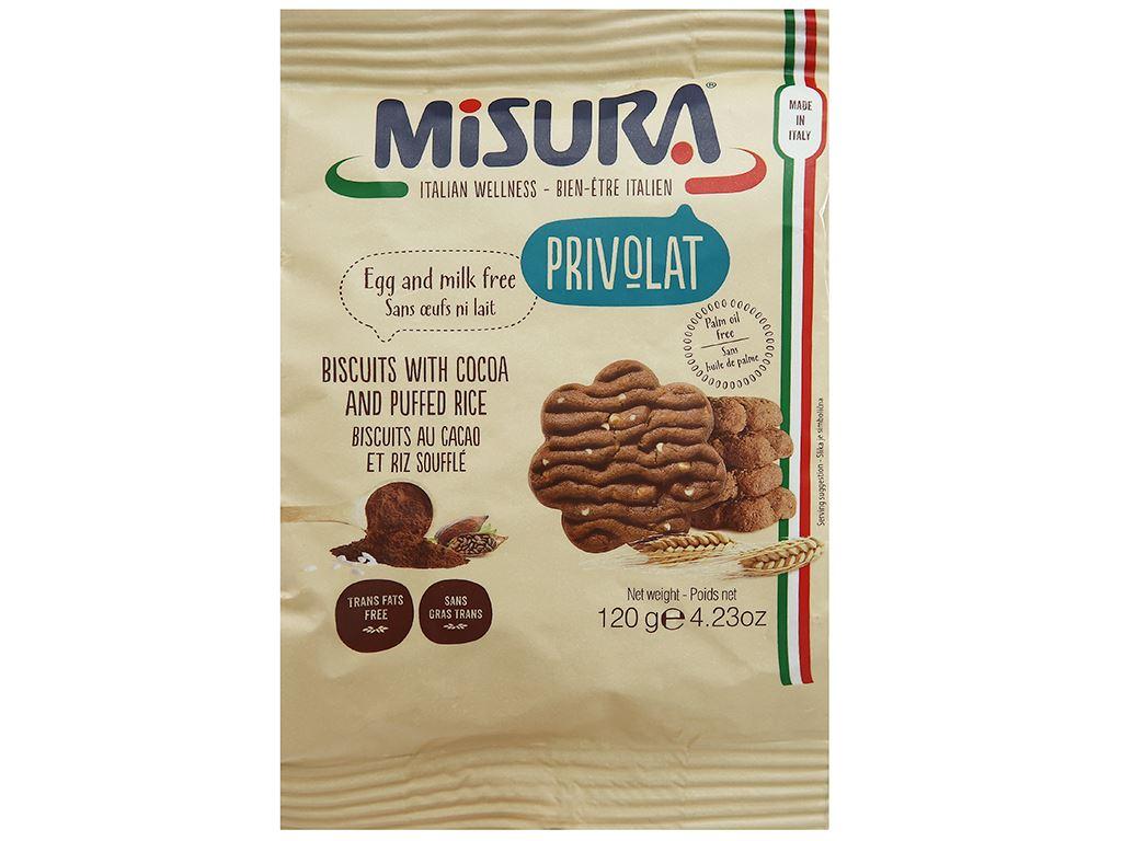 Bánh quy ca cao cốm gạo Misura gói 120g 1