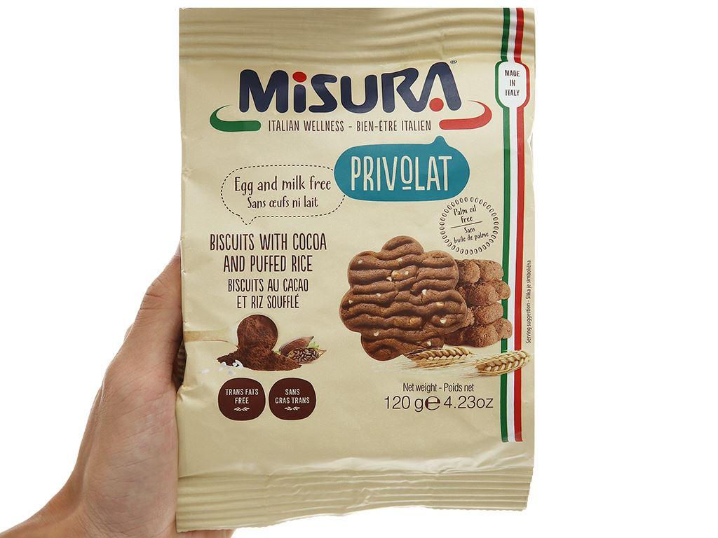 Bánh quy ca cao cốm gạo Misura gói 120g 4