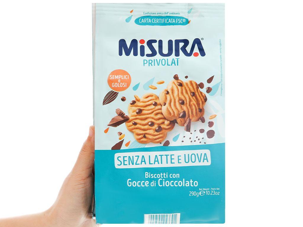 Bánh quy viên socola Misura gói 290g 4