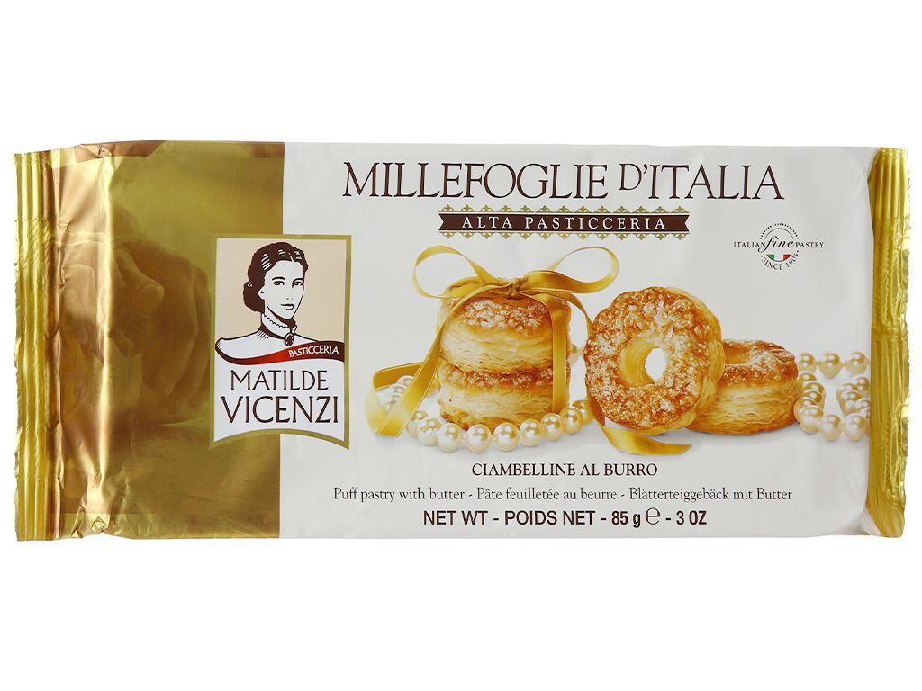Bánh Puff Pastry vị bơ tươi Matilde Vicenzi Alta Pasticceria gói 85g 1