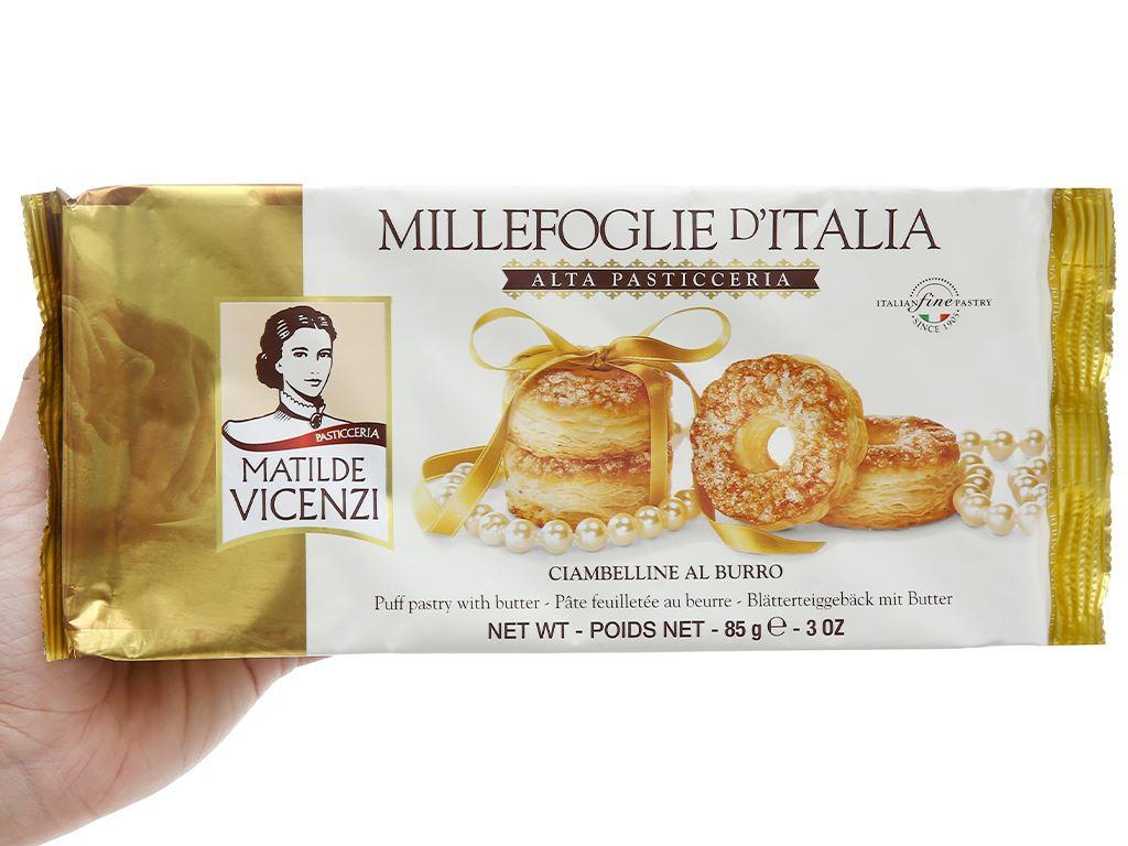 Bánh Puff Pastry vị bơ tươi Matilde Vicenzi Alta Pasticceria gói 85g 2