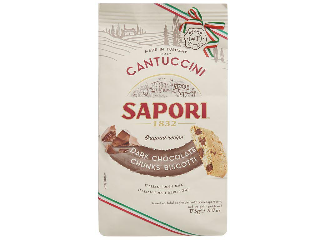 Bánh quy socola giòn Sapori gói 175g 1