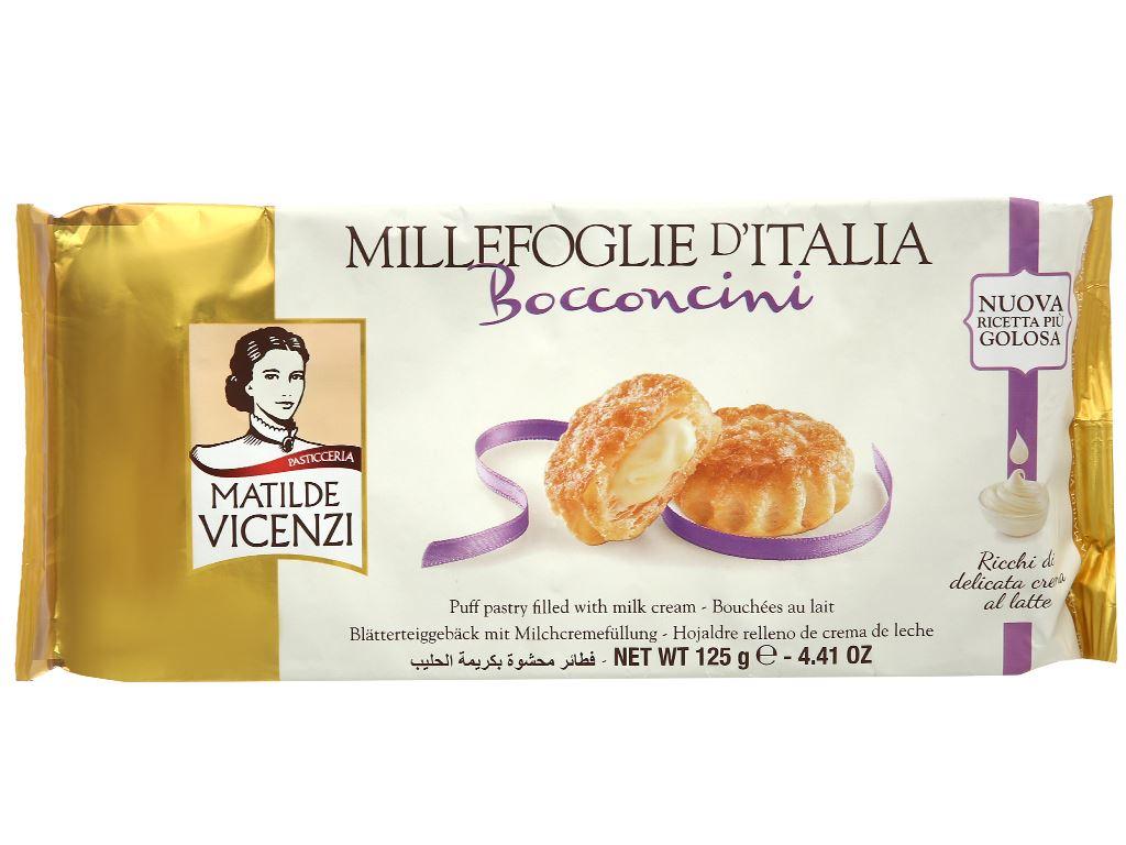 Bánh Puff Pastry nhân kem sữa Matilde Vicenzi Bocconcini gói 125g 1
