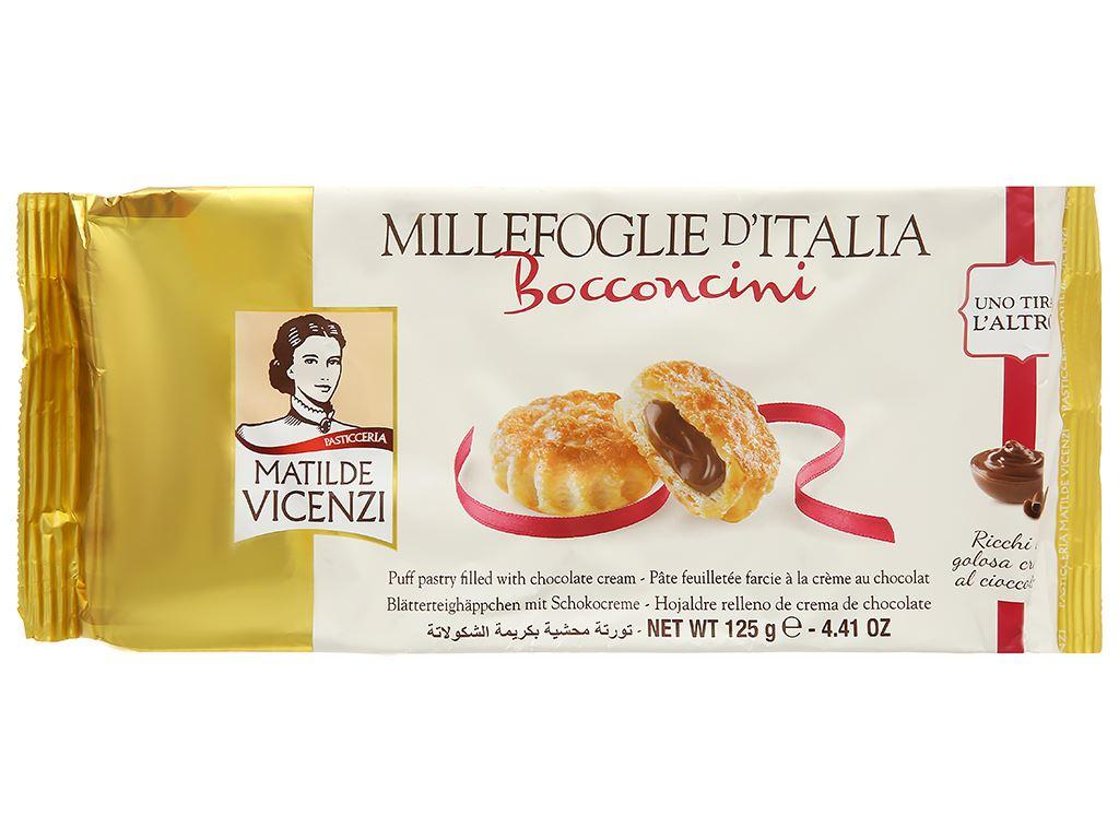Bánh Puff Pastry nhân kem socola Matilde Vicenzi Bocconcini gói 125g 1
