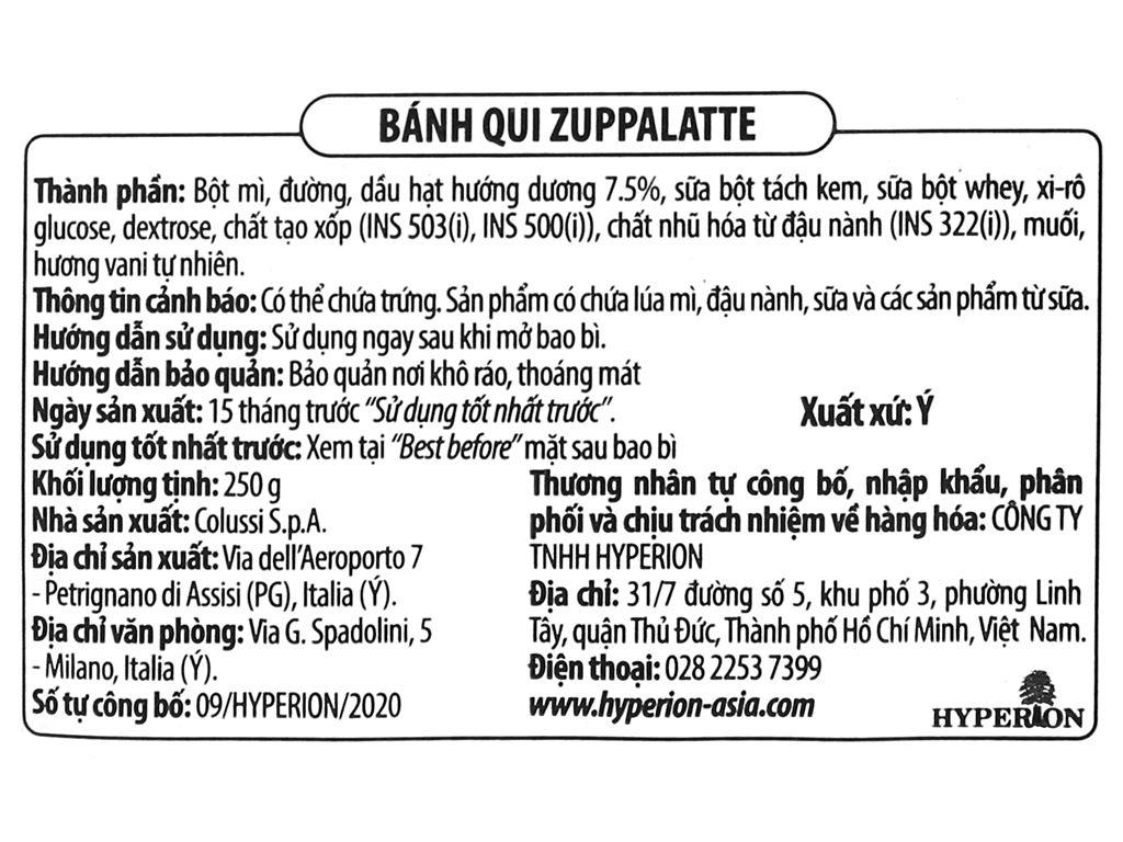 Bánh quy Colussi Zuppalatte gói 250g 3