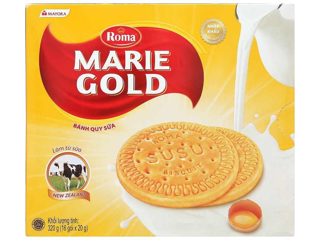 Bánh quy sữa Roma Marie Gold hộp 320g 1