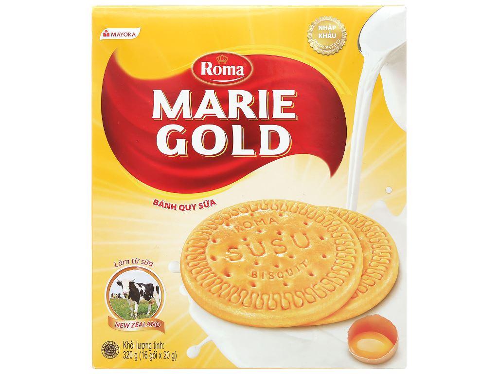 Bánh quy sữa Roma Marie Gold hộp 320g 2