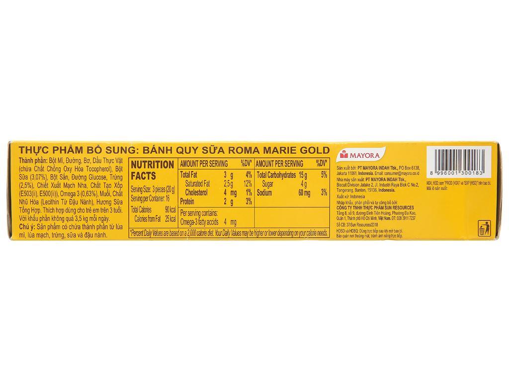 Bánh quy sữa Roma Marie Gold hộp 320g 3