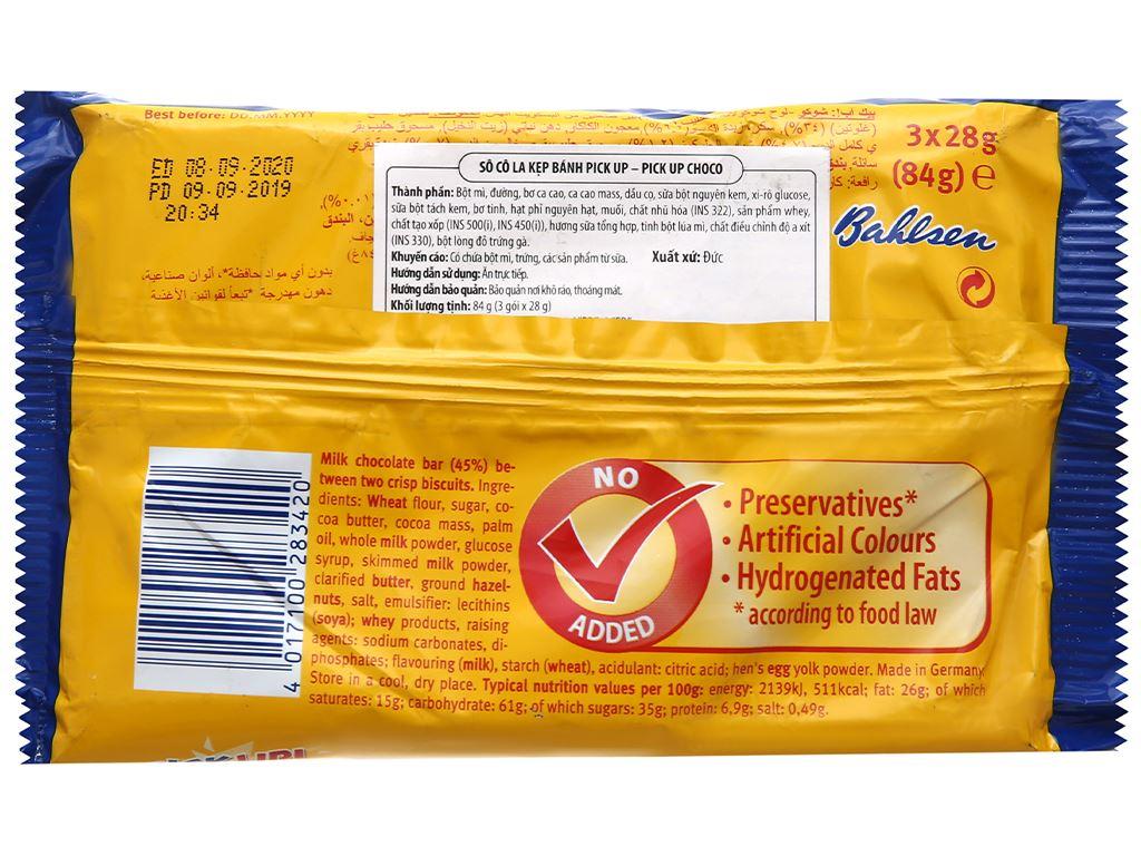 Bánh quy kẹp socola trắng Bahlsen Pick Up gói 84g 2