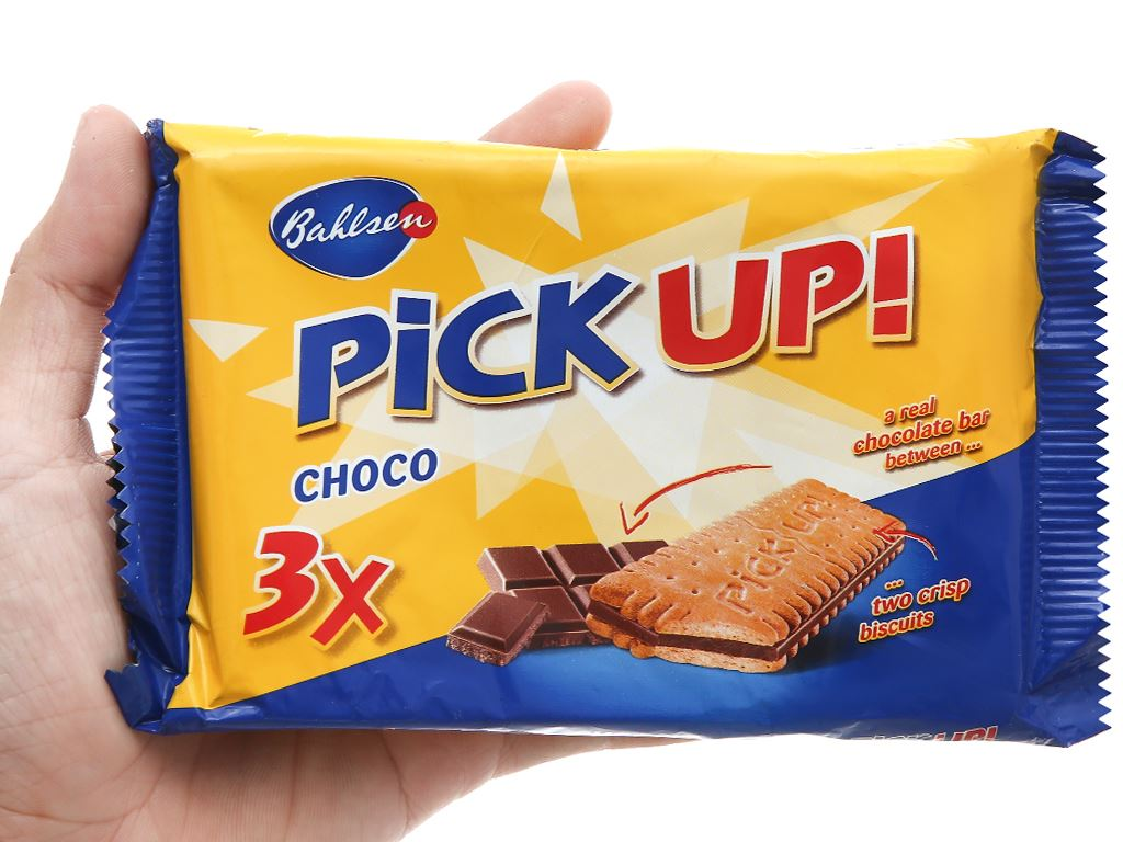 Bánh quy kẹp socola trắng Bahlsen Pick Up gói 84g 7