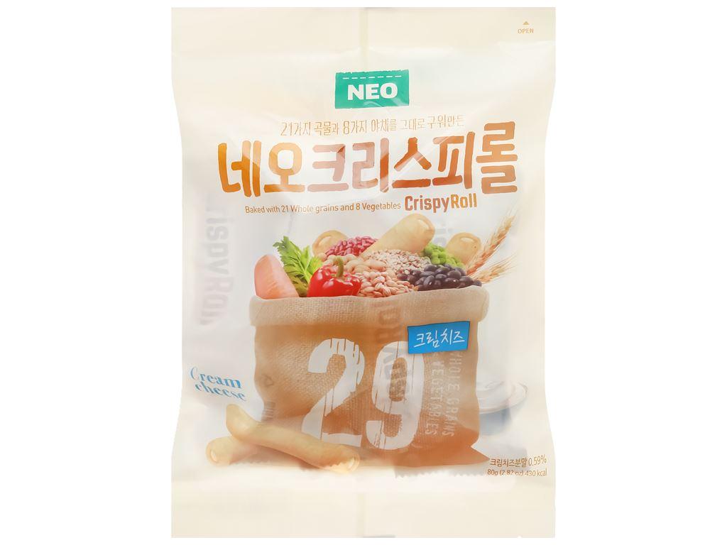 Bánh ngũ cốc cuộn kem phô mai Neo gói 80g 1