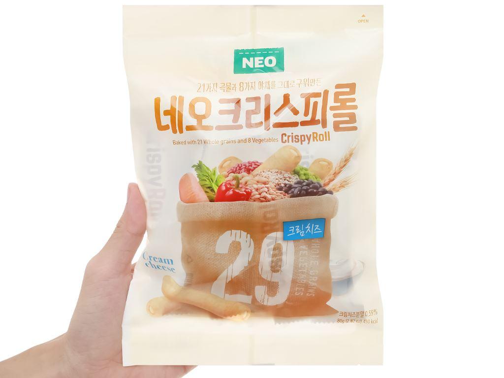 Bánh ngũ cốc cuộn kem phô mai Neo gói 80g 4