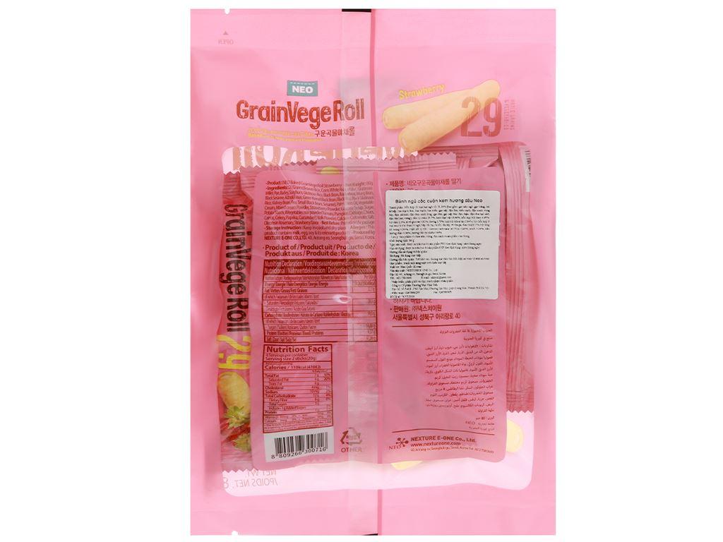 Bánh ngũ cốc cuộn kem hương dâu Neo gói 80g 2