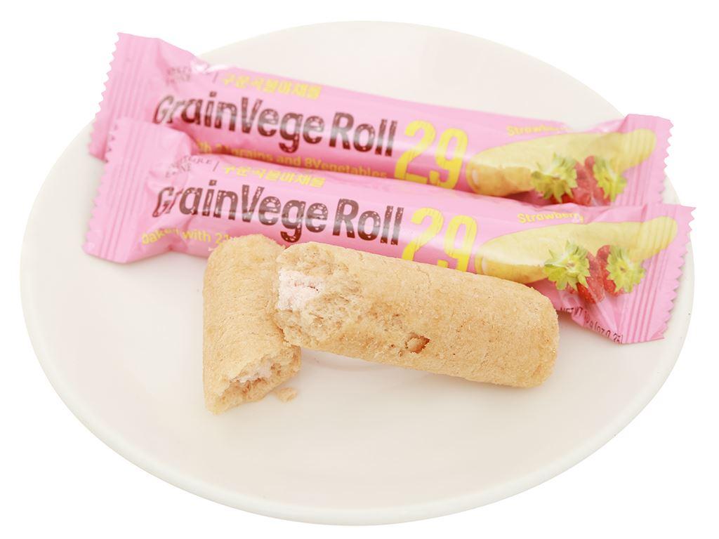 Bánh ngũ cốc cuộn kem hương dâu Neo gói 80g 8