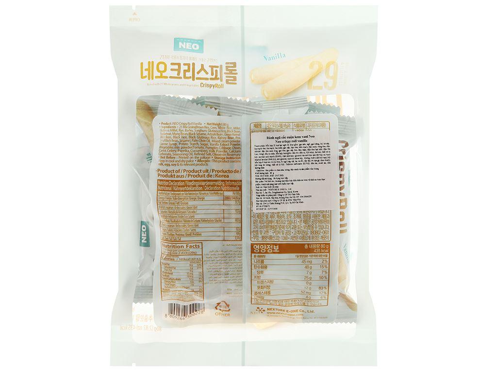 Bánh ngũ cốc cuộn kem vani Neo gói 80g 2
