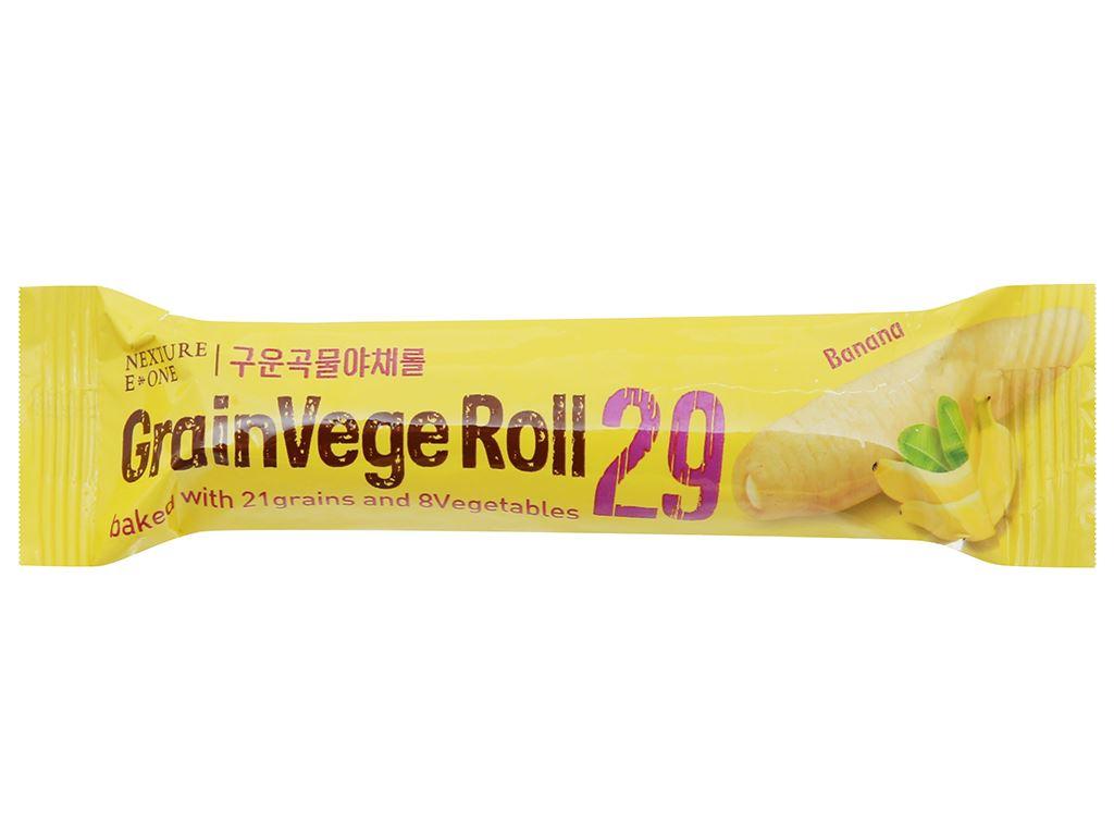 Bánh ngũ cốc cuộn kem hương chuối Neo gói 80g 3