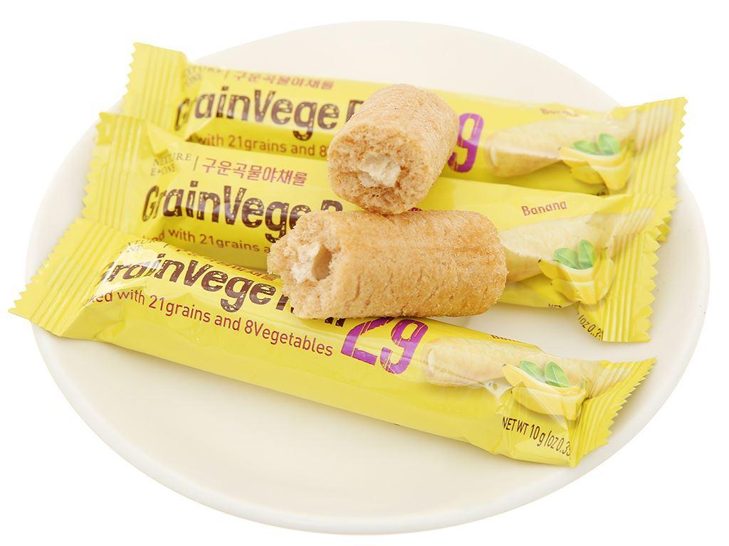 Bánh ngũ cốc cuộn kem hương chuối Neo gói 80g 8