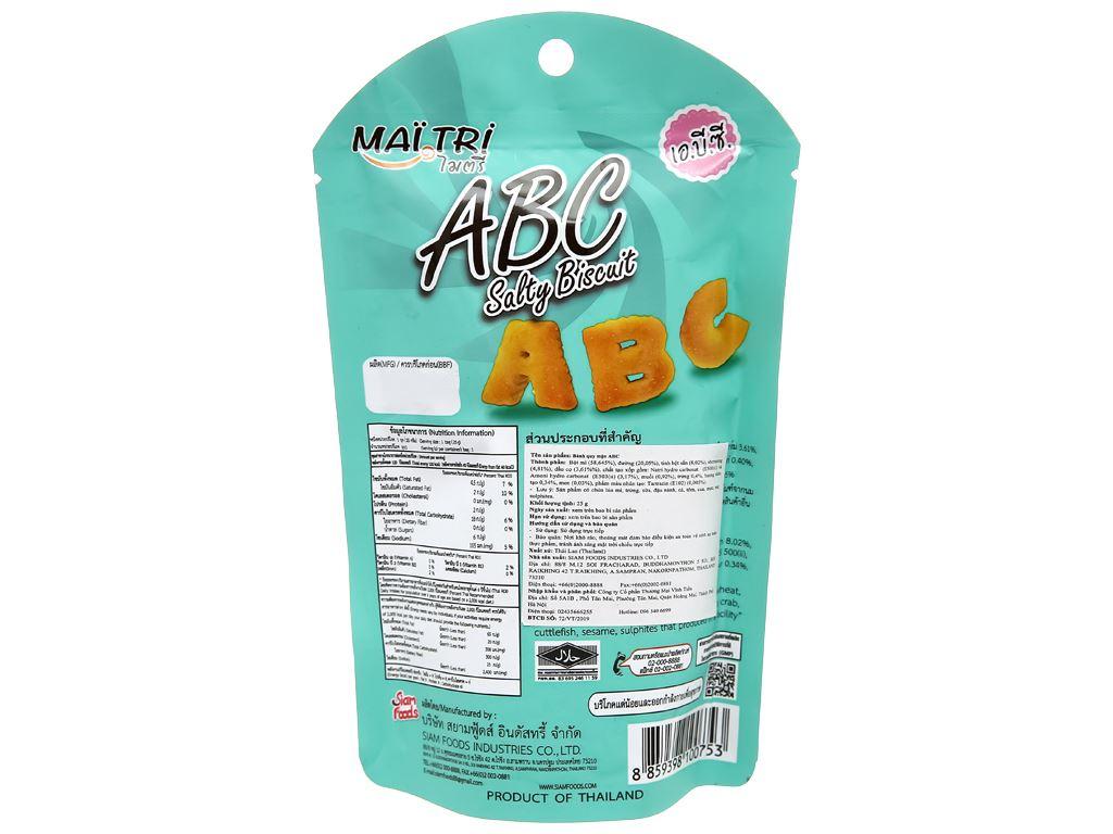 Bánh quy mặn Mai Tri ABC gói 25g 2
