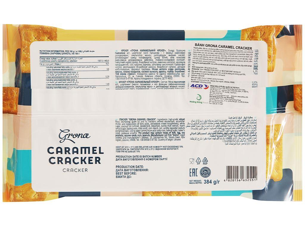 Bánh quy Grona Caramel Cracker gói 384g 2