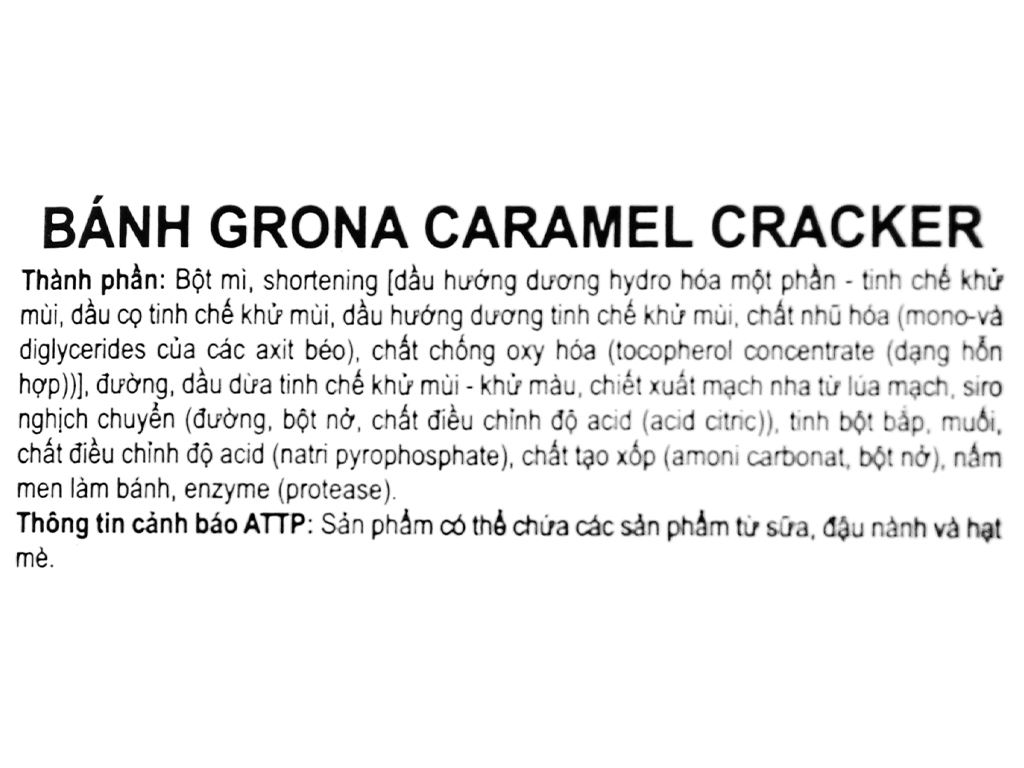 Bánh quy Grona Caramel Cracker gói 384g 3