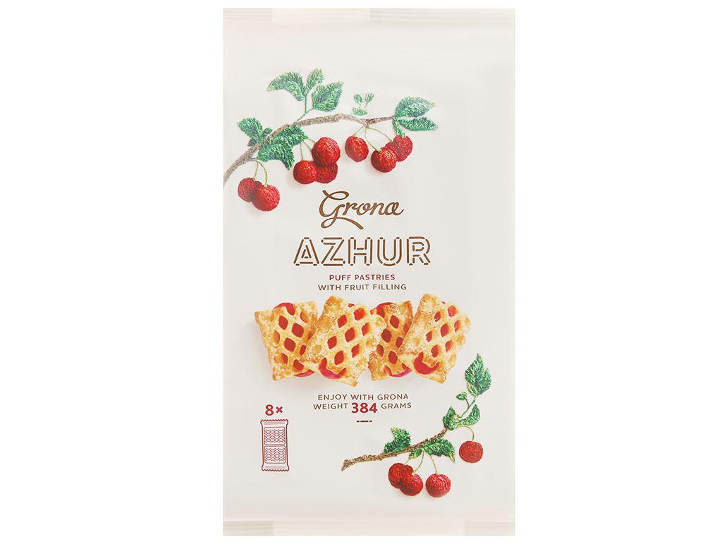 Bánh quy Grona Azhur vị anh đào gói 384g 1