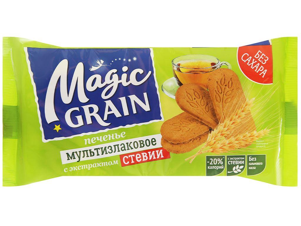 Bánh quy bơ hỗn hợp ngũ cốc với đường ăn kiêng chiết xuất Stevia DIAL-K Magic Grain gói 150g 1