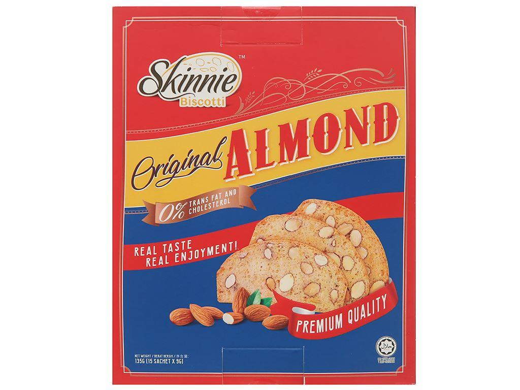 Bánh quy hạnh nhân Skinnie Original Almond hộp 135g 2