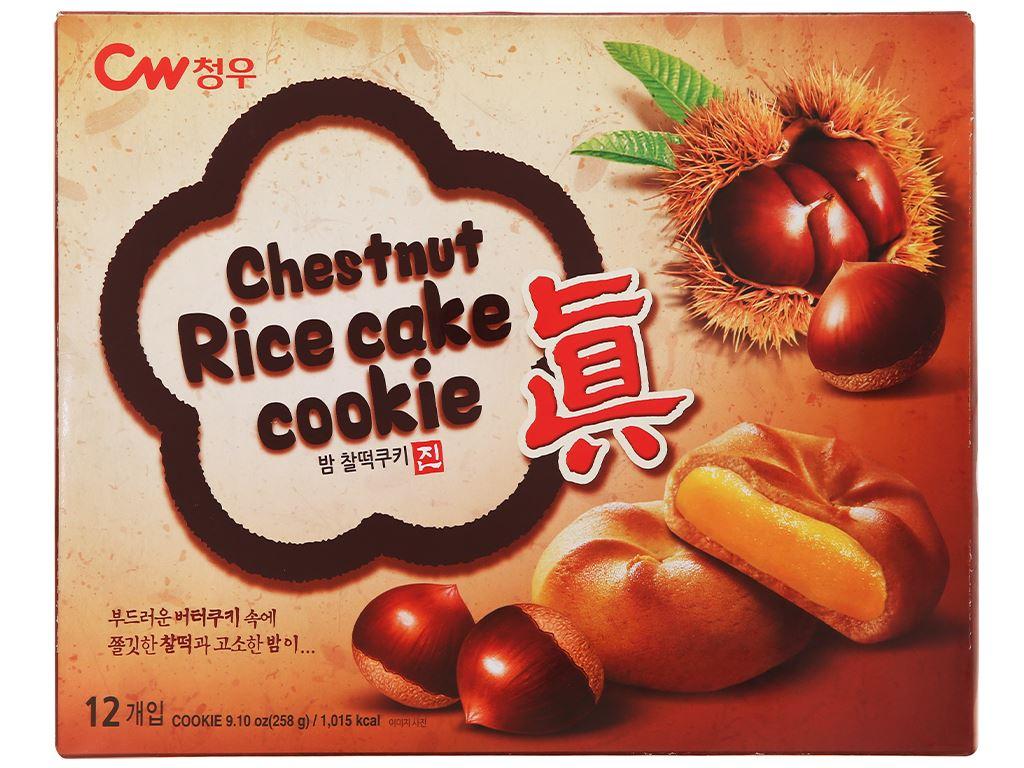 Bánh quy hạt dẻ Teok CW hộp 258g 1