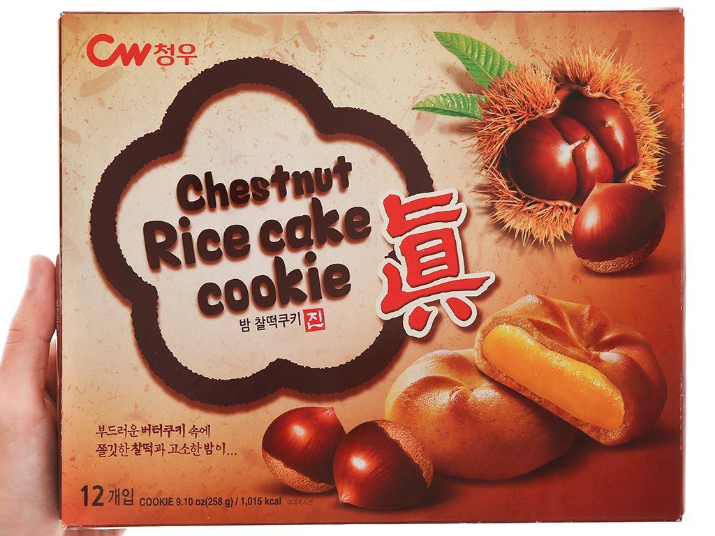 Bánh quy hạt dẻ Teok CW hộp 258g 7