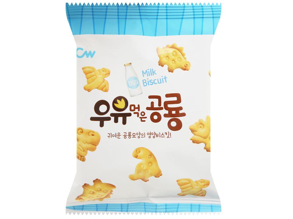 Bánh quy sữa khủng long CW hộp 60g 4