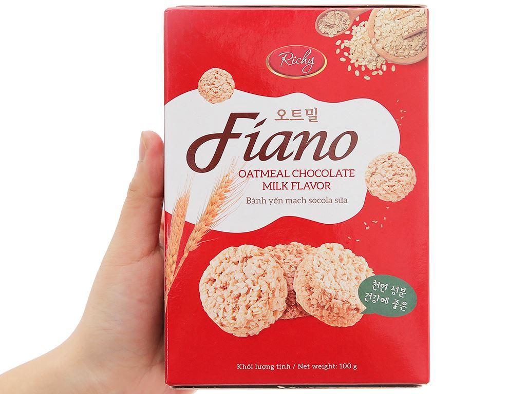 Bánh yến mạch sữa Fiano hộp 100g 4