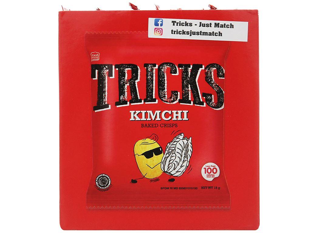 Bánh khoai tây chiên vị kim chi Tricks hộp 72g 3
