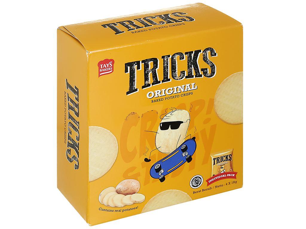 Bánh khoai tây chiên vị tự nhiên Tricks hộp 72g 1