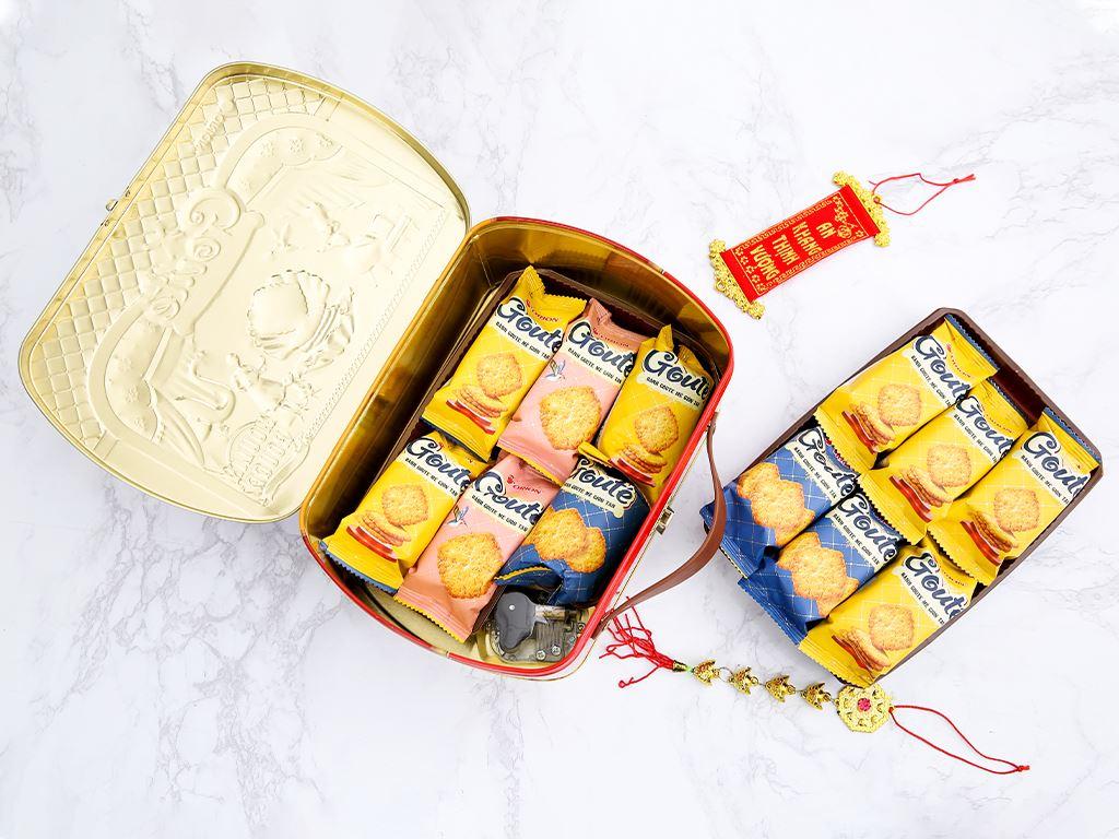 Bánh quy mè giòn tan Gouté (phiên bản đặc biệt) hộp thiếc 432g 4
