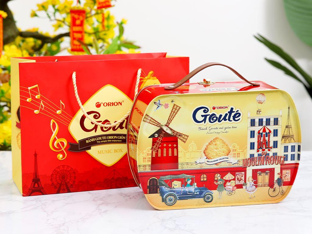 Bánh quy mè giòn tan Gouté (phiên bản đặc biệt) hộp thiếc 432g 8
