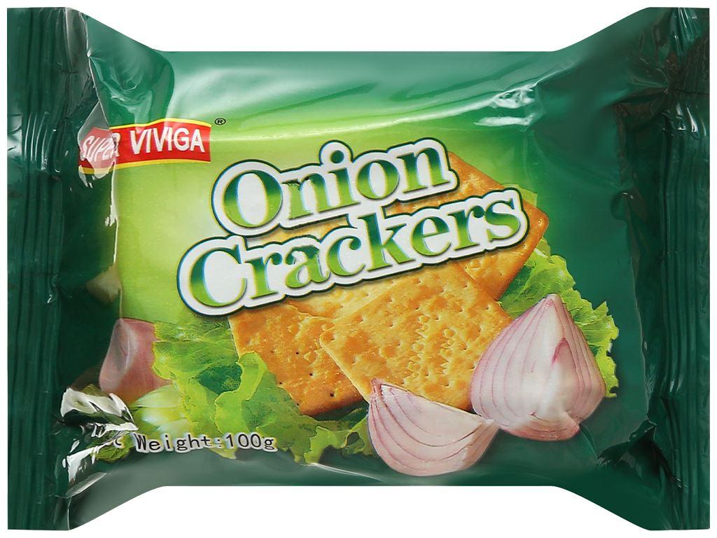 Bánh cracker vị hành Super Viviga gói 100g 1