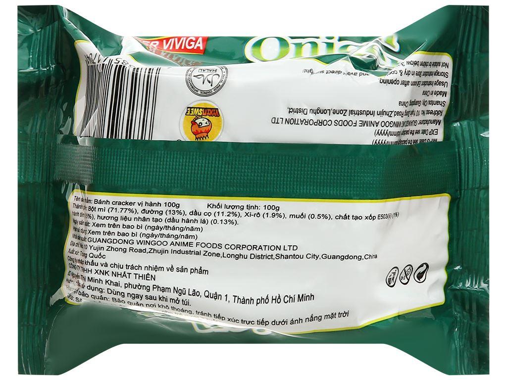 Bánh cracker vị hành Super Viviga gói 100g 2